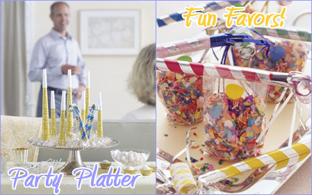 Party Platter & Fun Favors {MarthaStewart.com}