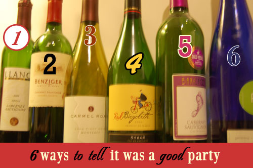 6 ways to tell it was a good party