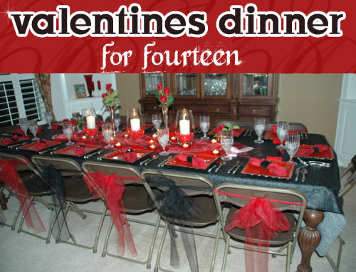 Guest post my mom valentines dinner for fourteen for Valentines dinner party ideas