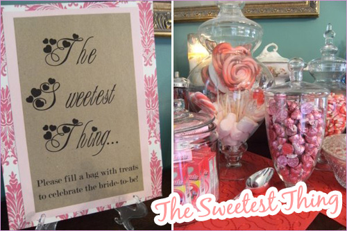 Sweetheart Shower Candy Bar