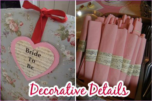 Sweetheart Shower: Decorative Details