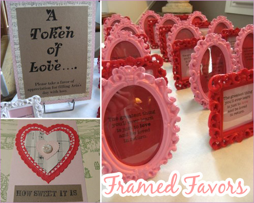 Sweetheart Shower: Party Favors