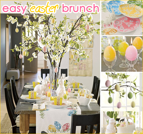 Easy Easter Brunch {Photos courtey of PotteryBarn.com}