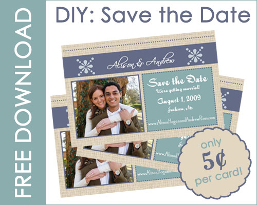 Diy save the date cards entertaining life for Publisher save the date templates