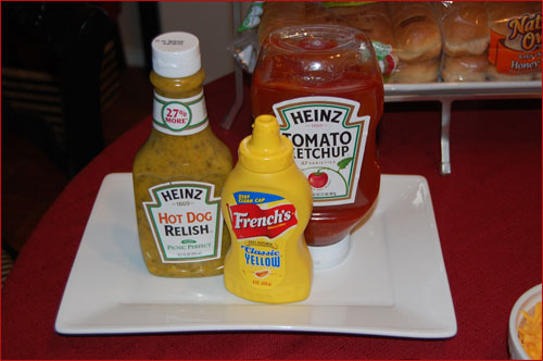 Hot Dog Condiments