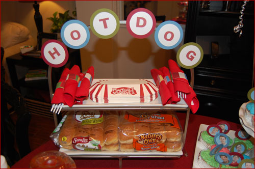 Hot Dog Table