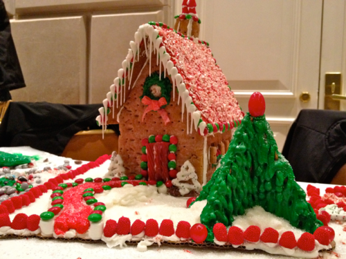 Our lovely gingerbread house!
