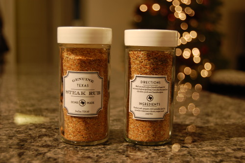 Texas Steak Rub Gifts with White Lids